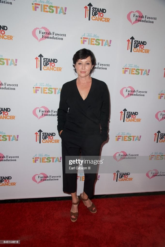 Actress Shannen Doherty attends the Farrah Fawcett Foundation's 'Tex-Mex Fiesta' Honoring Stand Up To Cancer at Wallis Annenberg Center for the Performing Arts on September 9, 2017 in Beverly Hills, California.