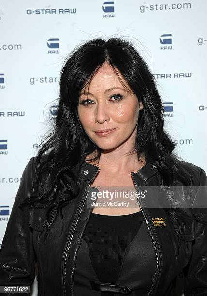 Actress Shannen Doherty backstage at GStar Raw Presents NY Raw Fall/Winter 2010 Collection at Hammerstein Ballroom on February 16 2010 in New York...