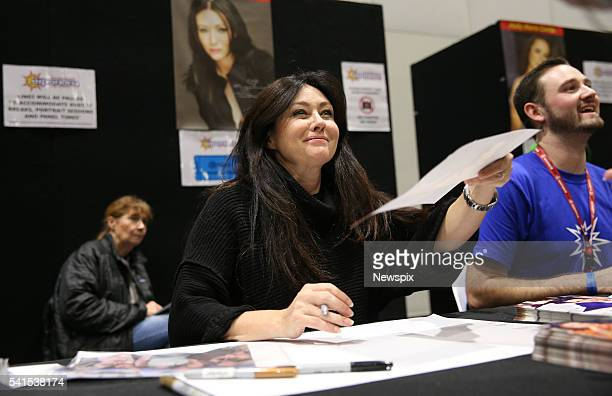 Actress Shannen Doherty signing autographs during the 2016 Supanova Pop Culture Expo at the Olympic Park in Sydney New South Wales