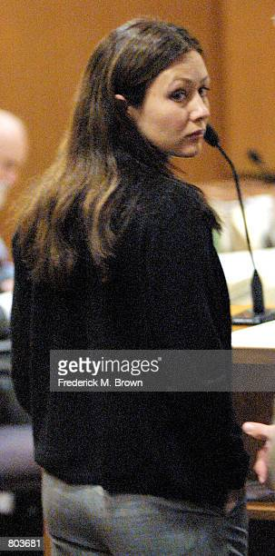 Actress Shannon Doherty makes an appearance in Ventura County Court on charges of Driving Under the Influence April 30 2001 in Ventura CA