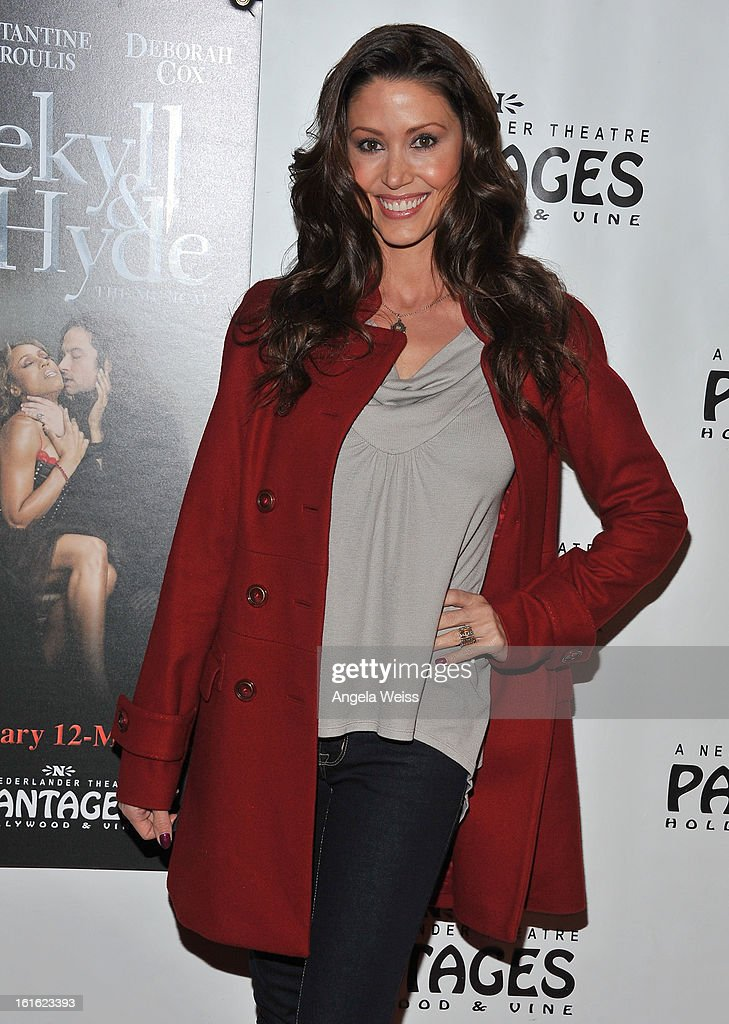 Actress Shannon Elizabeth arrives at the opening night of 'Jekyll & Hyde' held at the Pantages Theatre on February 12, 2013 in Hollywood, California.
