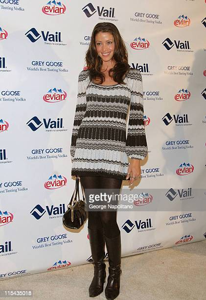 Actress Shannon Elizabeth arrives for the 1st Annual Vail Hold 'Em Poker Event For Your Cause at the Altman Building on October 16 2007 in New York...