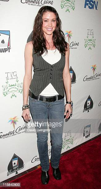 Actress Shannon Elizabeth attends the 7th annual Celebrity World Poker Tournament at the Commerce Casino on February 28 2009 in Commerce California