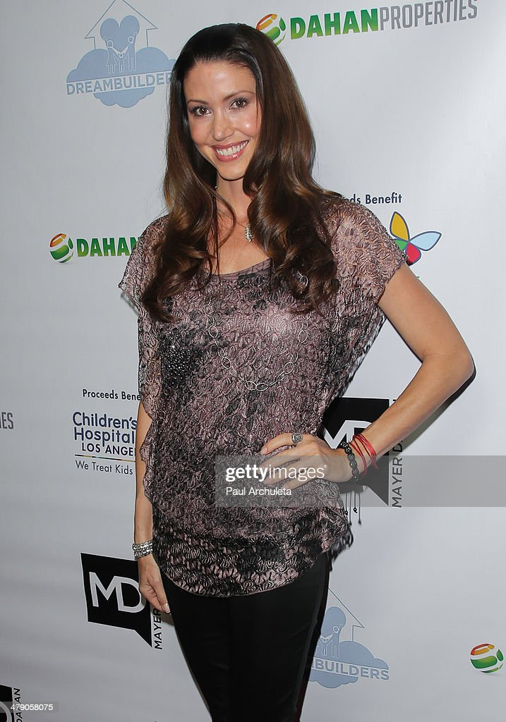 Actress Shannon Elizabeth attends the Dream Builders project's 'A Brighter Future For Children' benefit at H.O.M.E. on March 15, 2014 in Beverly Hills, California.