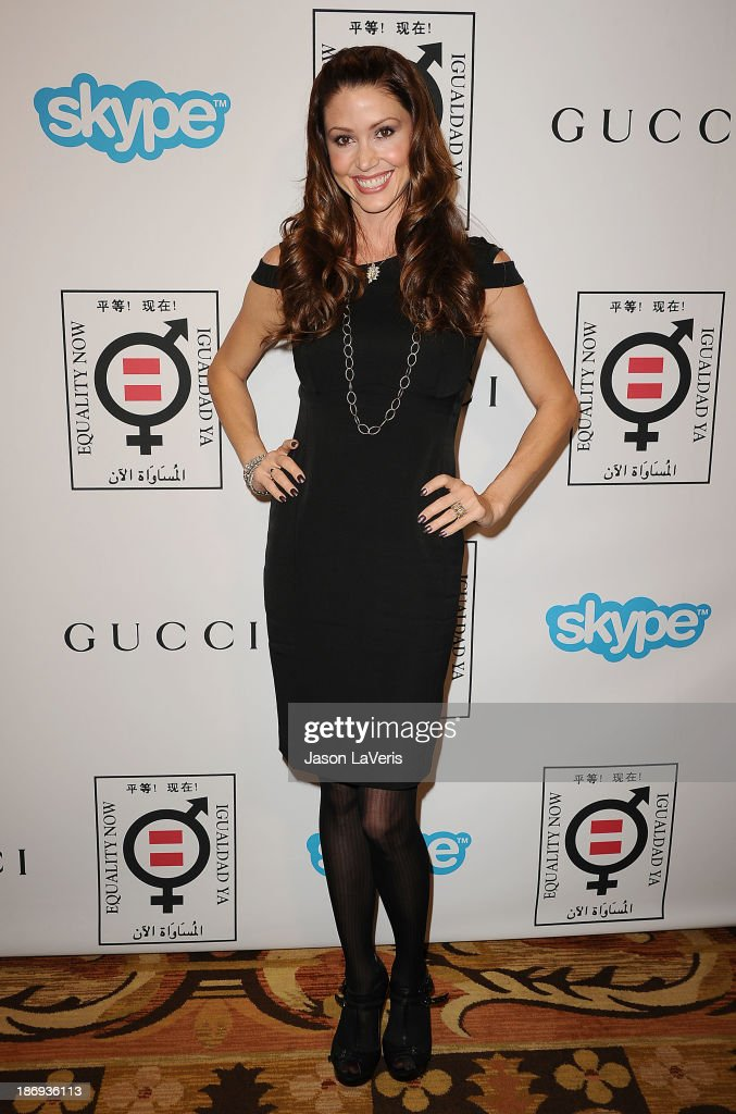 Actress <a gi-track='captionPersonalityLinkClicked' href=/galleries/search?phrase=Shannon+Elizabeth&family=editorial&specificpeople=201622 ng-click='$event.stopPropagation()'>Shannon Elizabeth</a> attends the 'Make Equality Reality' event at Montage Beverly Hills on November 4, 2013 in Beverly Hills, California.