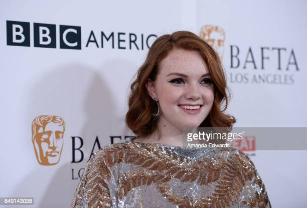 Actress Shannon Purser arrives at the BBC America BAFTA Los Angeles TV Tea Party 2017 at The Beverly Hilton Hotel on September 16 2017 in Beverly...