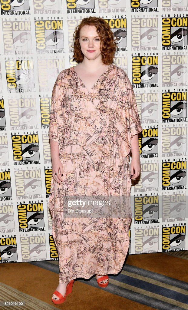 Actress Shannon Purser at Netflix's 'Stranger Things' Press line during Comic-Con International 2017 at Hilton Bayfront on July 22, 2017 in San Diego, California.