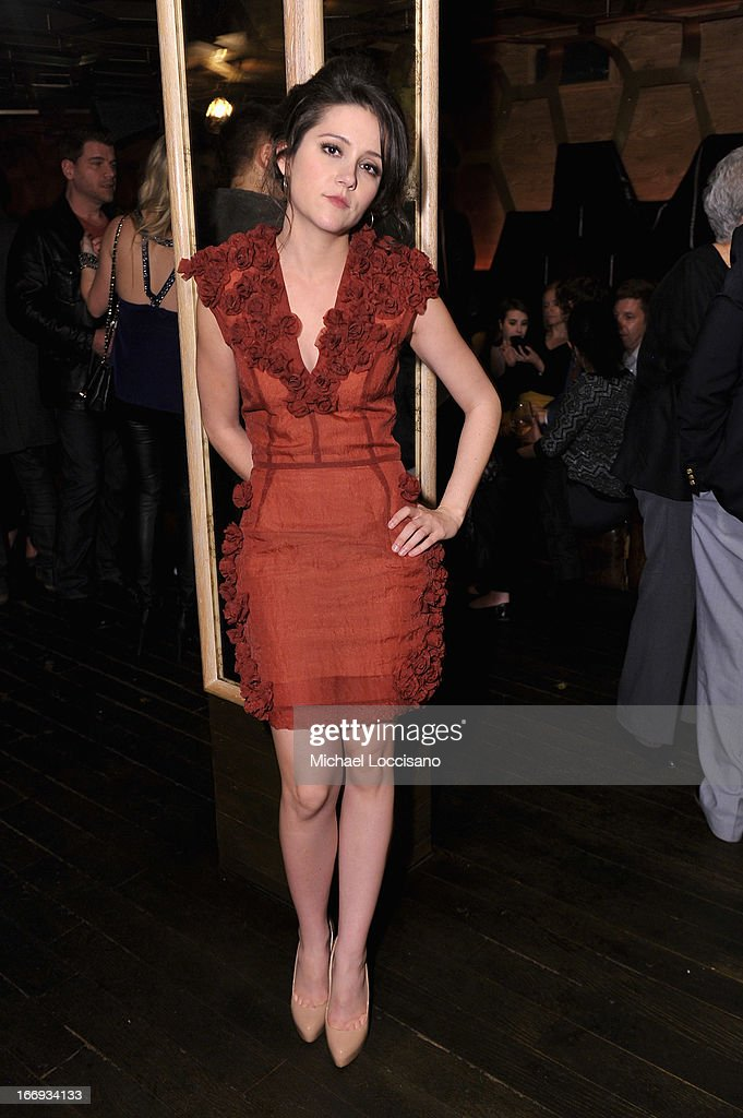 Actress Shannon Woodward attends the 'Adult World' premiere after party during the 2013 Tribeca Film Festival at Darby Downstairs on April 18, 2013 in New York City.