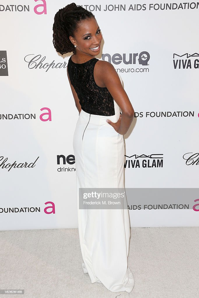 Actress Shanola Hampton arrives at the 21st Annual Elton John AIDS Foundation's Oscar Viewing Party on February 24, 2013 in Los Angeles, California.