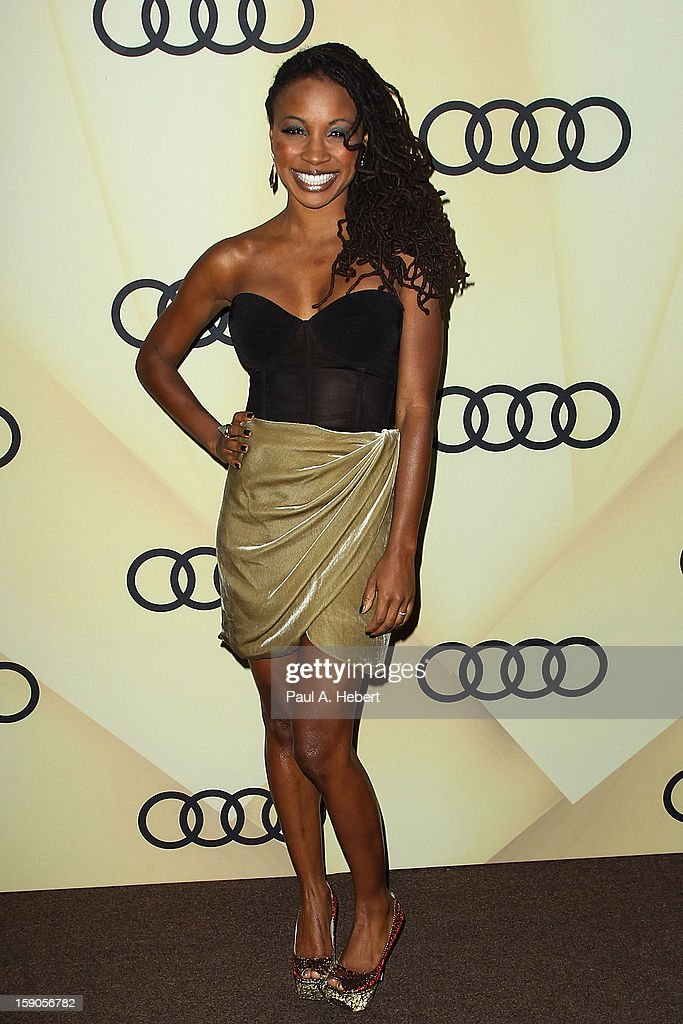 Actress Shanola Hampton arrives at the Audi Golden Globe 2013 Kick Off Party at Cecconi's Restaurant on January 6, 2013 in Los Angeles, California.