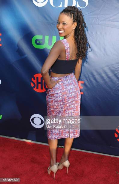 Actress Shanola Hampton arrives at the CBS The CW Showtime CBS Television Distribution 2014 Television Critics Association Summer Press Tour at...