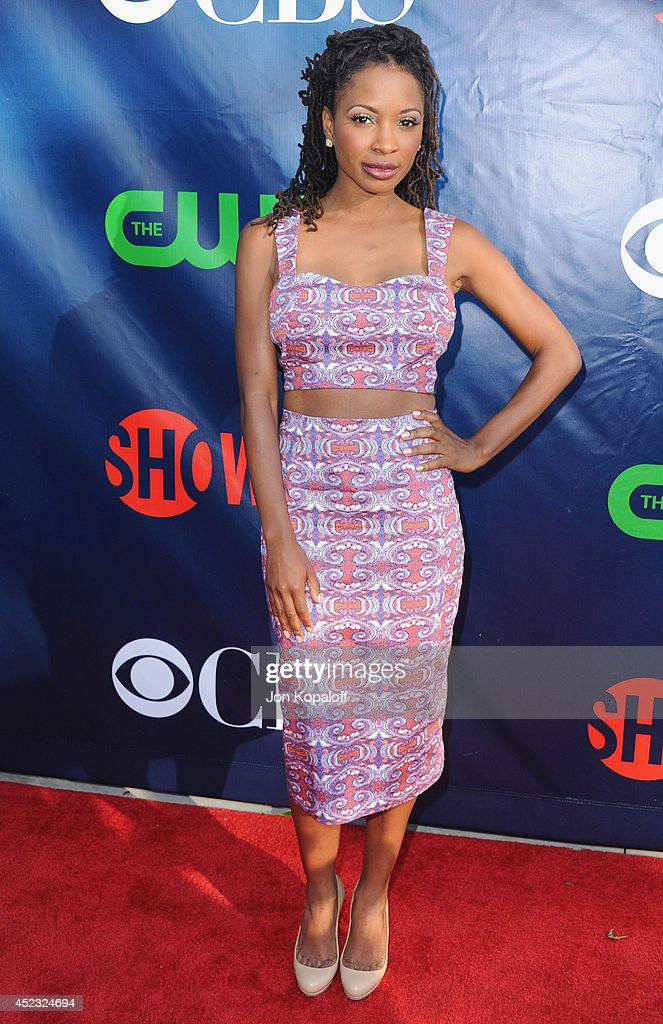 Actress <a gi-track='captionPersonalityLinkClicked' href=/galleries/search?phrase=Shanola+Hampton&family=editorial&specificpeople=2129035 ng-click='$event.stopPropagation()'>Shanola Hampton</a> arrives at the CBS, The CW, Showtime & CBS Television Distribution 2014 Television Critics Association Summer Press Tour at Pacific Design Center on July 17, 2014 in West Hollywood, California.