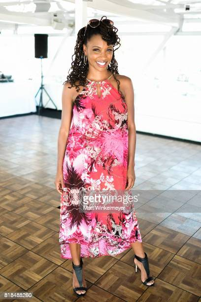 Actress Shanola Hampton attends Steve Howey's Surprise 40th Birthday Party on July 16 2017 in Los Angeles California