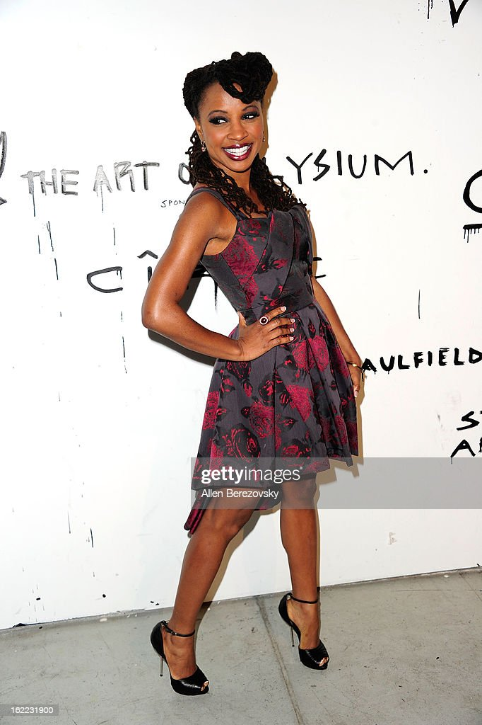 Actress Shanola Hampton attends The Art of Elysium's 6th annual Pieces of Heaven charity art auction presented by Ciroc Ultra Premium Vodka at Ace Museum on February 20, 2013 in Los Angeles, California.