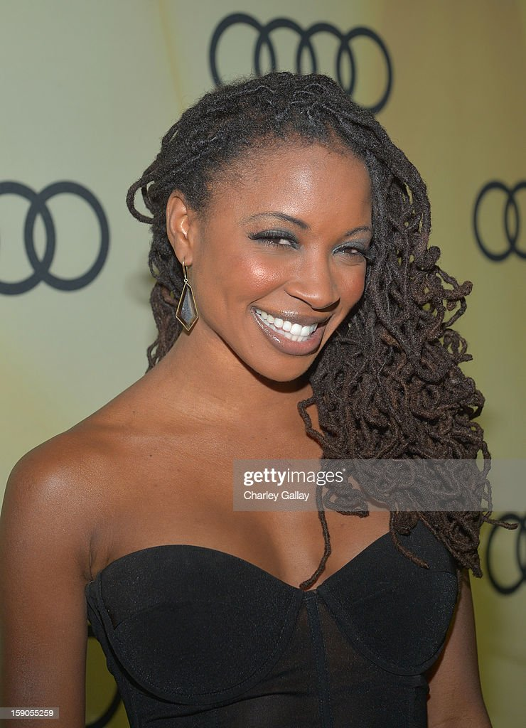 Actress Shanola Hampton attends the Audi Golden Globes Kick Off 2013 at Cecconi's Restaurant on January 6, 2013 in Los Angeles, California.