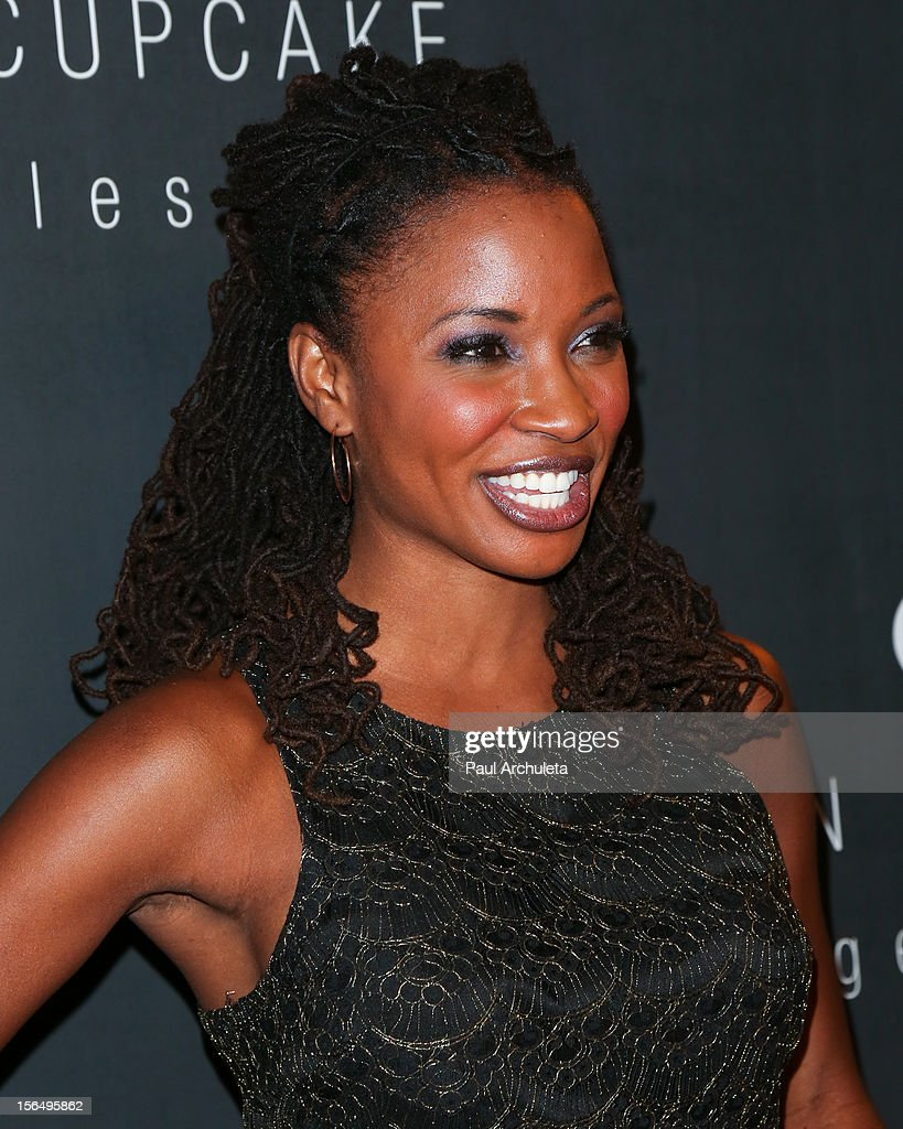 Actress Shanola Hampton attends the Georgetown Cupcakes Los Angeles grand opening at Georgetown Cupcake Los Angeles on November 15, 2012 in Los Angeles, California.