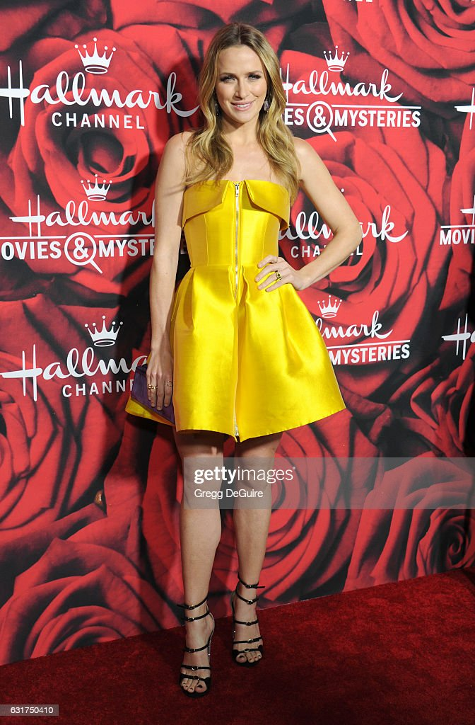 Actress Shantel VanSanten arrives at Hallmark Channel And Hallmark Movies And Mysteries Winter 2017 TCA Press Tour at The Tournament House on January 14, 2017 in Pasadena, California.
