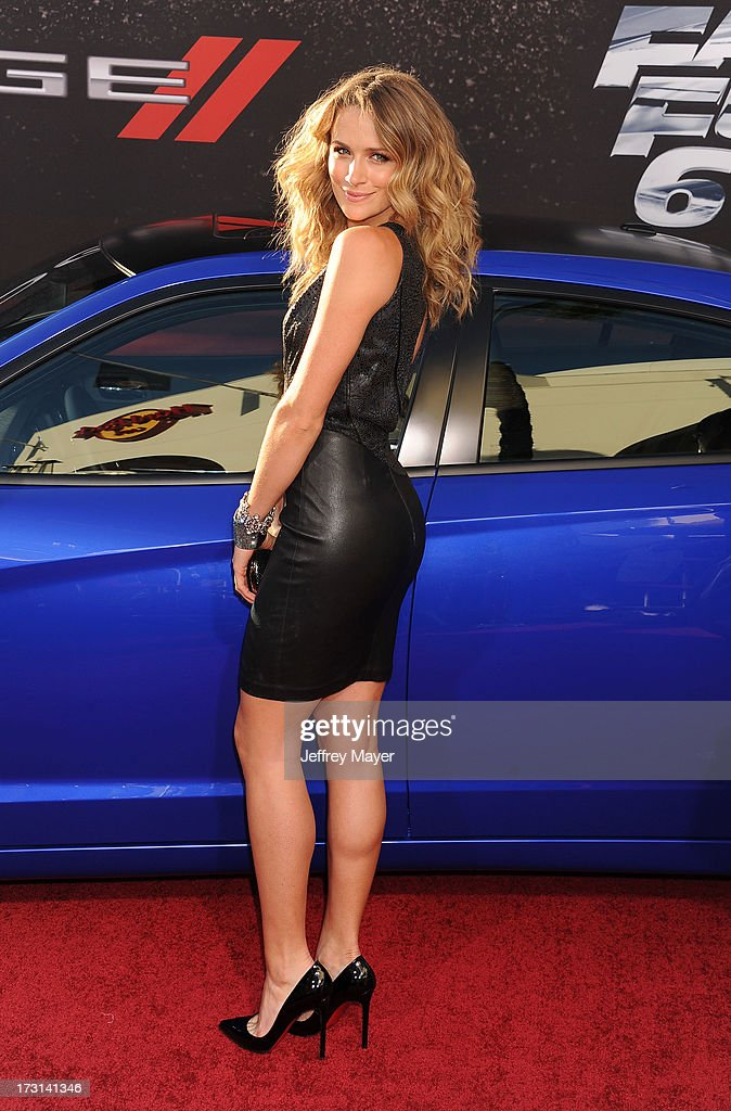 Actress Shantel VanSanten arrives at the 'Fast & The Furious 6' Los Angeles premiere at Gibson Amphitheatre on May 21, 2013 in Universal City, California.