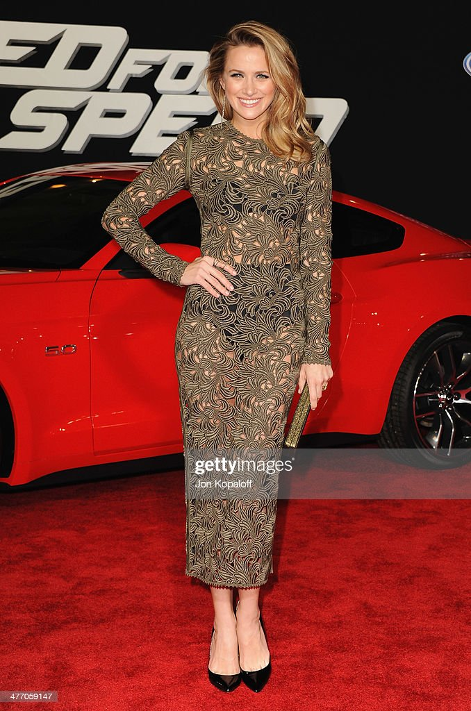 Actress <a gi-track='captionPersonalityLinkClicked' href=/galleries/search?phrase=Shantel+VanSanten&family=editorial&specificpeople=4433467 ng-click='$event.stopPropagation()'>Shantel VanSanten</a> arrives at the Los Angeles Premiere 'Need For Speed' at TCL Chinese Theatre on March 6, 2014 in Hollywood, California.
