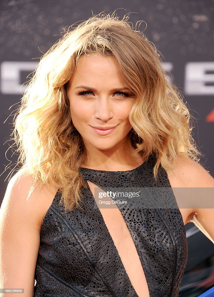 Actress Shantel VanSanten arrives at the Los Angeles premiere of 'Fast & The Furious 6' at Gibson Amphitheatre on May 21, 2013 in Universal City, California.