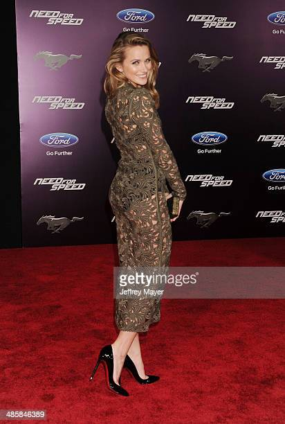 Actress Shantel VanSanten arrives at the Los Angeles premiere of 'Need For Speed' at TCL Chinese Theatre on March 6 2014 in Hollywood California