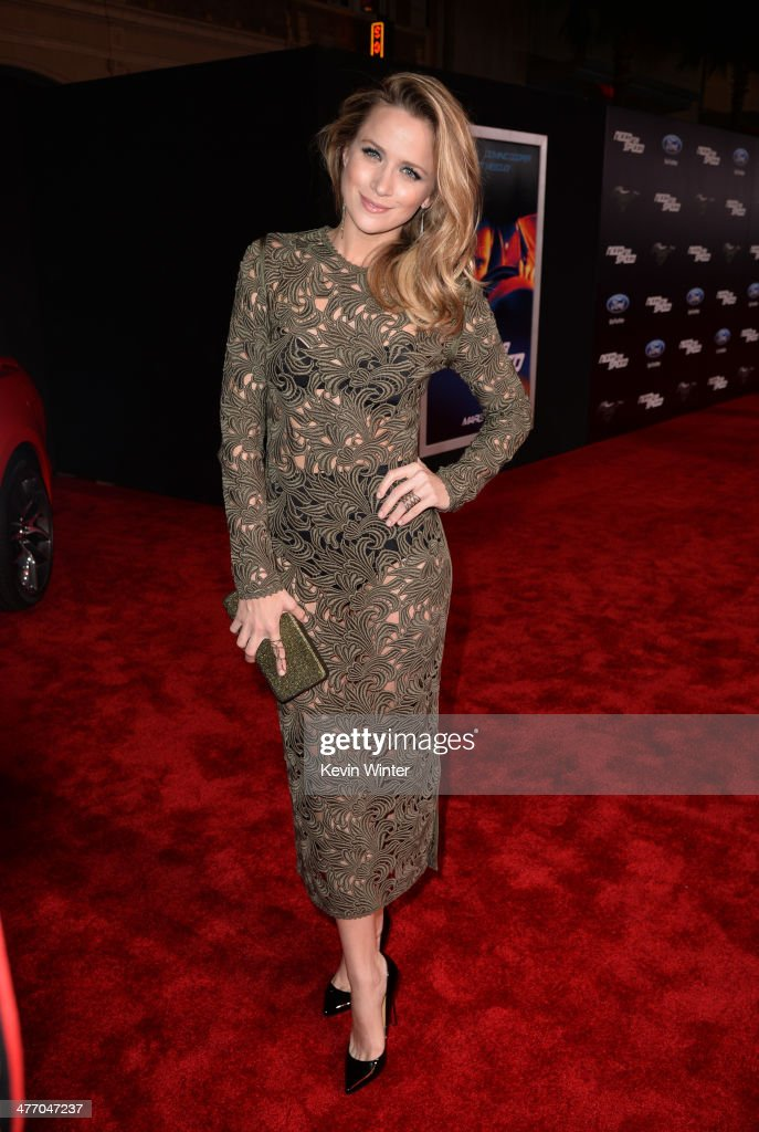 Actress <a gi-track='captionPersonalityLinkClicked' href=/galleries/search?phrase=Shantel+VanSanten&family=editorial&specificpeople=4433467 ng-click='$event.stopPropagation()'>Shantel VanSanten</a> arrives at the premiere of DreamWorks Pictures' 'Need For Speed' at TCL Chinese Theatre on March 6, 2014 in Hollywood, California.