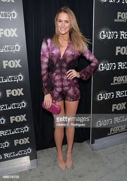 Actress Shantel VanSanten arrives to the premiere of Fox's 'Gang Releted' at Homeboy Industries on April 21 2014 in Los Angeles California
