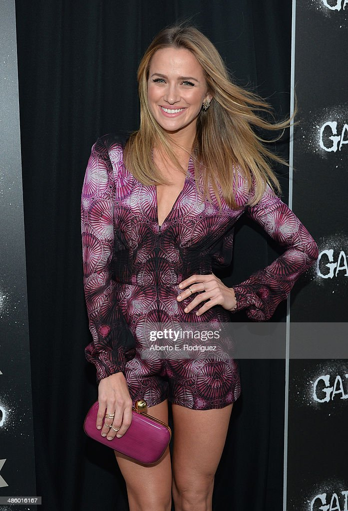 Actress Shantel VanSanten arrives to the premiere of Fox's 'Gang Releted' at Homeboy Industries on April 21, 2014 in Los Angeles, California.