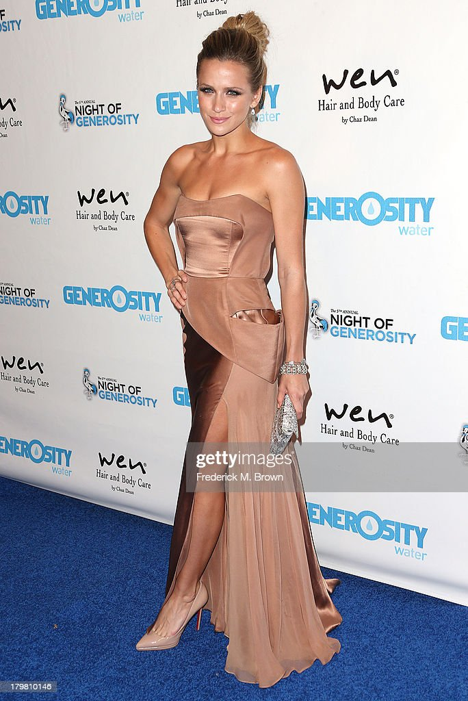Actress Shantel VanSanten attends Generosity Water's 5th Annual Night of Generosity Benefit at the Beverly Hills Hotel on September 6, 2013 in Beverly Hills, California.