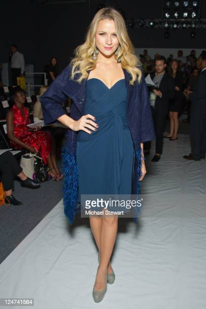 Actress Shantel VanSanten attends the Jenny Packham Spring 2012 fashion show during MercedesBenz Fashion Week at The Studio at Lincoln Center on...
