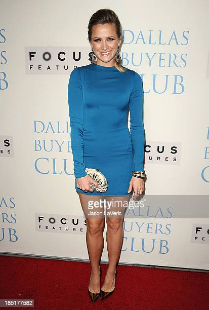 Actress Shantel VanSanten attends the premiere of 'Dallas Buyers Club' at the Academy of Motion Picture Arts and Sciences on October 17 2013 in...