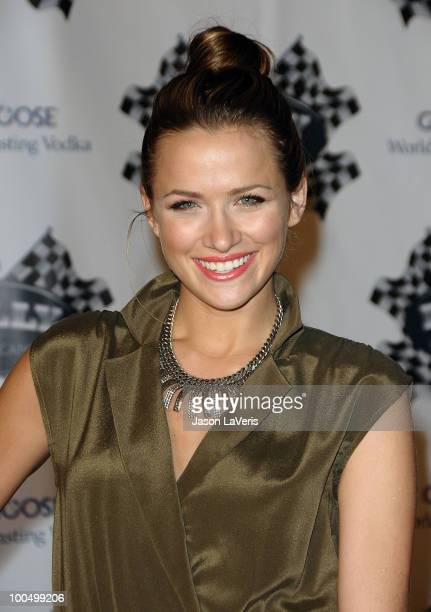 Actress Shantel VanSanten attends the Rally for Kids with Cancer Scavenger Cup press conference at Petersen Automotive Museum on May 24 2010 in Los...