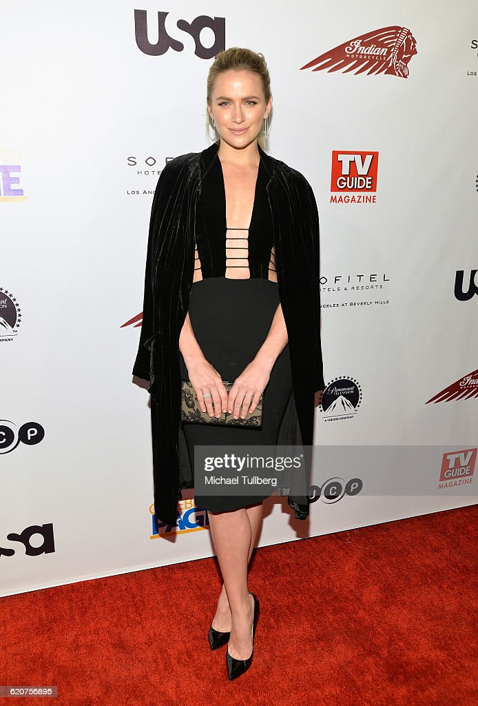Actress Shantel VanSanten attends TV Guide Magazine And USA Network's celebration of USA's 'Shooter' at Sofitel Hotel on November 2, 2016 in Los Angeles, California.