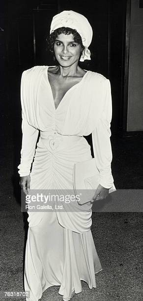 Actress Shari Belafonte attending 'Joan Rivers' Love Match Tennis Auction' on May 31 1986 at Century Plaza Hotel in Century City California