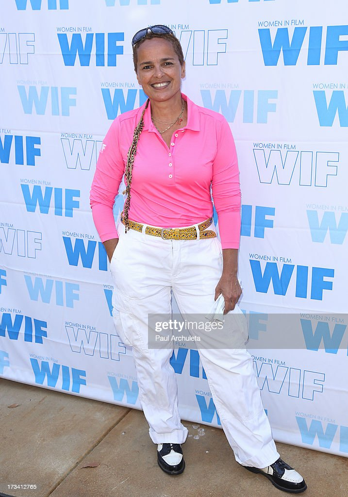 Actress <a gi-track='captionPersonalityLinkClicked' href=/galleries/search?phrase=Shari+Belafonte&family=editorial&specificpeople=233758 ng-click='$event.stopPropagation()'>Shari Belafonte</a> attends the Women In Film's 16th annual Malibu Celebrity Golf Classic on July 13, 2013 in Malibu, California.