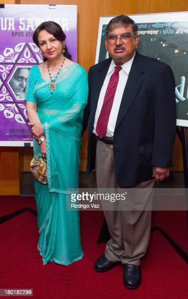 Actress Sharmila Tagore and Director of the Satyajit Ray Film and Study Center Collection at UCSC Dilip Basu attends the Academy of Motion Picture...