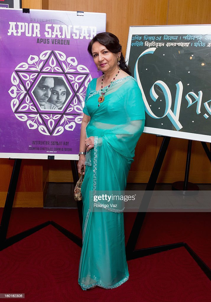 Actress <a gi-track='captionPersonalityLinkClicked' href=/galleries/search?phrase=Sharmila+Tagore&family=editorial&specificpeople=2523120 ng-click='$event.stopPropagation()'>Sharmila Tagore</a> attends the Academy of Motion Picture Arts and Sciences' Screening of 'Apur Sansar (The World Of Apu)' at AMPAS Samuel Goldwyn Theater on September 9, 2013 in Beverly Hills, California.