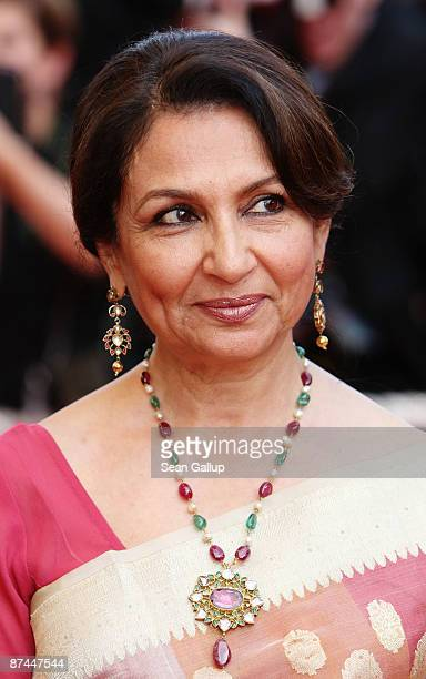 Actress Sharmila Tagore attends the Vengeance Premiere at the Palais Des Festivals during the 62nd International Cannes Film Festival on May 17 2009...