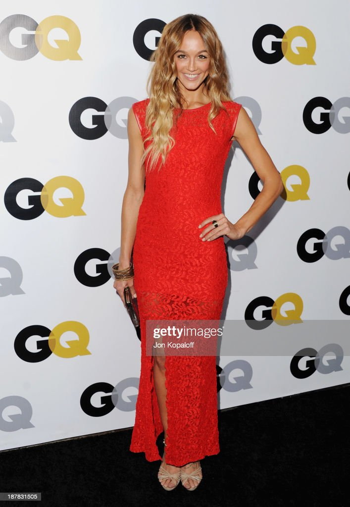 Actress Sharni Vinson arrives at GQ Celebrates The 2013 'Men Of The Year' at The Wilshire Ebell Theatre on November 12, 2013 in Los Angeles, California.
