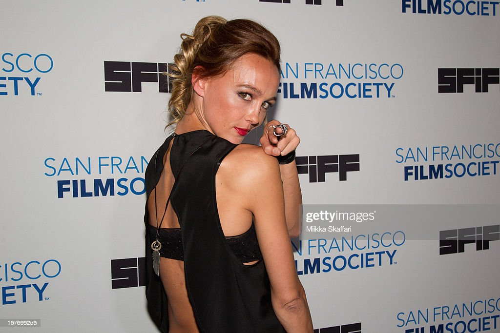 Actress <a gi-track='captionPersonalityLinkClicked' href=/galleries/search?phrase=Sharni+Vinson&family=editorial&specificpeople=690345 ng-click='$event.stopPropagation()'>Sharni Vinson</a> arrives at 'You're Next' premiere at Sundance Kabuki Cinemas on April 27, 2013 in San Francisco, California.