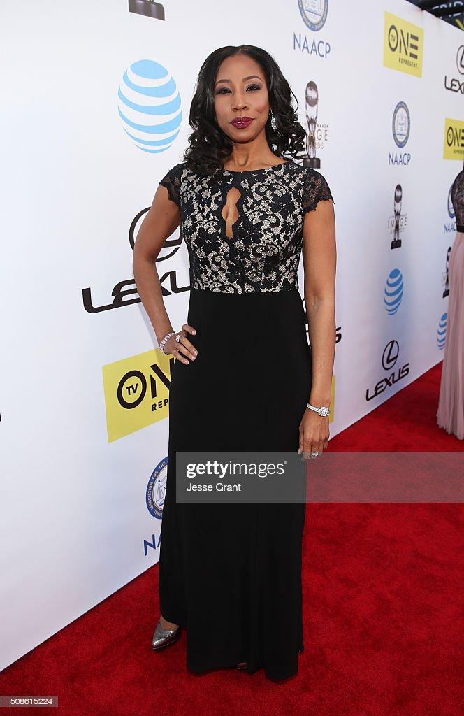 Actress Sharon Brathwaite attends the 47th NAACP Image Awards presented by TV One at Pasadena Civic Auditorium on February 5, 2016 in Pasadena, California.