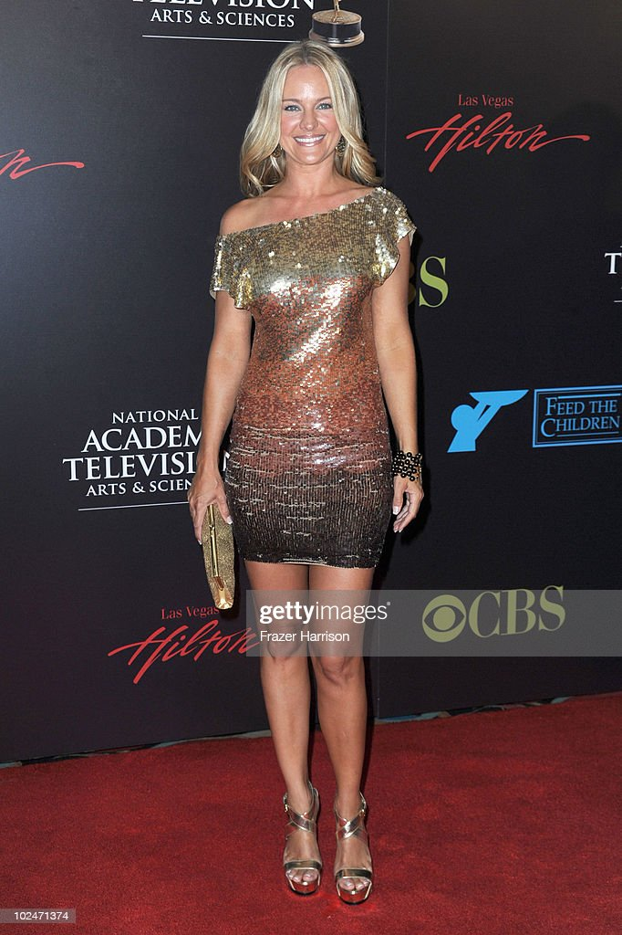Actress <a gi-track='captionPersonalityLinkClicked' href=/galleries/search?phrase=Sharon+Case&family=editorial&specificpeople=215357 ng-click='$event.stopPropagation()'>Sharon Case</a> arrives at the 37th Annual Daytime Entertainment Emmy Awards held at the Las Vegas Hilton on June 27, 2010 in Las Vegas, Nevada.