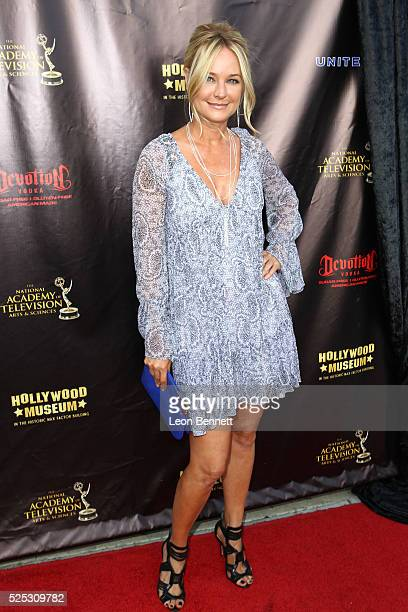 Actress Sharon Case attends the 2016 Daytime Emmy Awards Nominees Reception Arrivals at The Hollywood Museum on April 27 2016 in Hollywood California