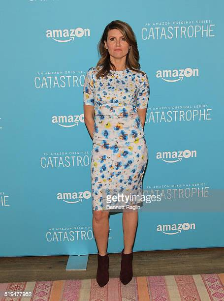 Actress Sharon Horgan attends the 'Catastrophe' New York Screening at Crosby Street Hotel on April 6 2016 in New York City
