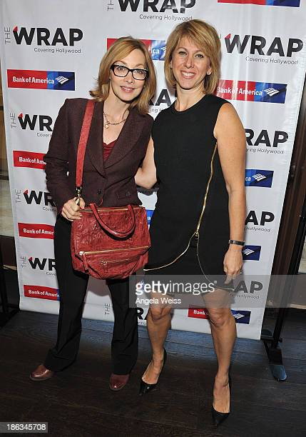 Actress Sharon Lawrence and Founder and CEO of The Wrap Sharon Waxman attend TheWrap's Women's Breakfast at Montage Beverly Hills on October 30 2013...