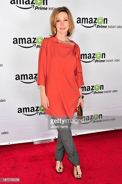 Actress Sharon Lawrence arrives at Amazoncom red carpet launch party for 'Alpha House' and 'Betas' Los Angeles Premieres at Boulevard3 on November 6...
