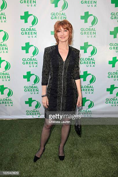 Actress Sharon Lawrence arrives at Global Green USA's 14th Annual Millennium Awards at Fairmont Miramar Hotel on June 12 2010 in Santa Monica...