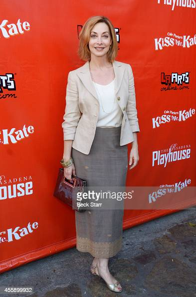 Actress Sharon Lawrence arrives at Pasadena Playhouse opening night for 'Kiss Me Kate' at Pasadena Playhouse on September 21 2014 in Pasadena...