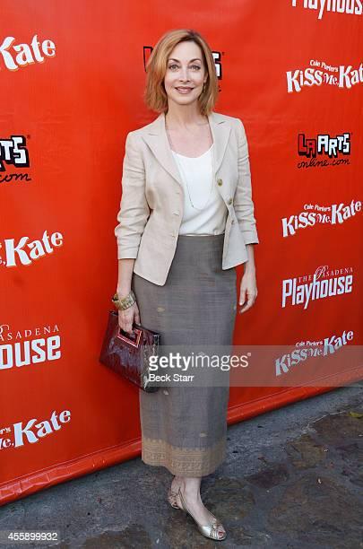 Actress Sharon Lawrence arrives at Pasadena Playhouse opening night for 'Kiss Me Kate' at Pasadena Playhouse on September 21 2014 in Pasadena...