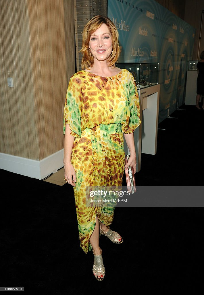 Actress Sharon Lawrence arrives at the 2011 Women In Film Crystal + Lucy Awards with presenting sponsor PANDORA jewelry at the Beverly Hilton Hotel on June 16, 2011 in Beverly Hills, California.